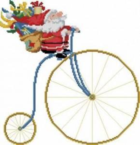 Схема Санта на велосипеде