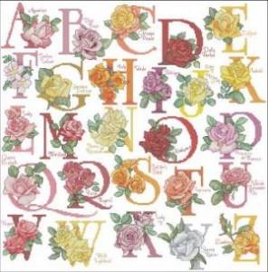 Алфавит с розами