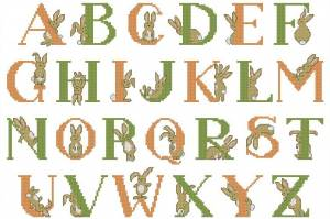 Алфавит с зайками