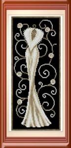 Схема Белое платье
