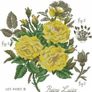 Схема Желтая роза