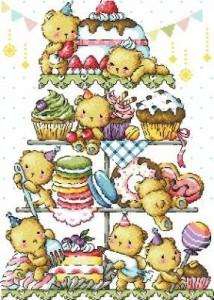 Мишки с пирожными