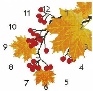 Схема Часы Осень