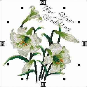Схема Часики с лилиями