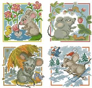 Мышки - четыре сезона