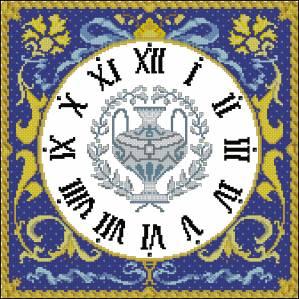 Схема Часики Античная мозаика