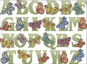 Алфавит с бабочками