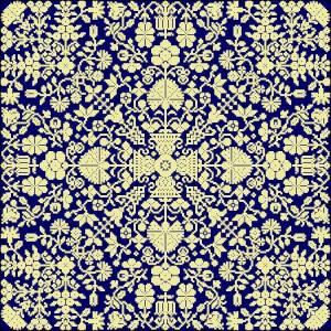 Схема Цветочная головоломка однотонная