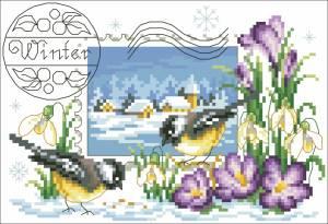 Схема Почтовая марка «Зима»