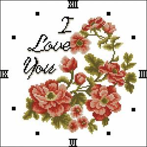 Часики с цветами