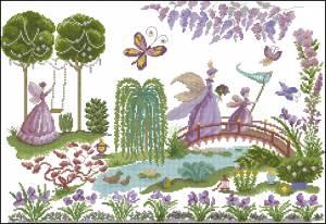 Феи-бабочки в саду