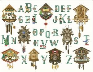 Алфавит с часами
