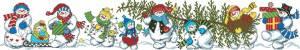 Схема Снеговики с елкой