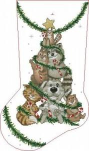 Сапожок Новогоднее дерево