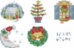 Схема Новогодние миниатюры