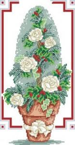 Схема Рождественское розовое дерево