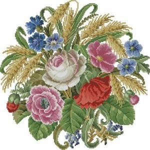 Цветы и пшеница
