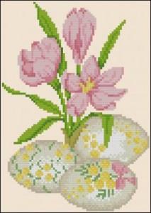 Схема Крокус и пасхальные яйца