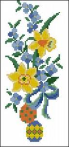 Схема  Нарциссы и пасхальные яички