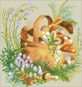 Схема Грибное лукошко