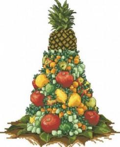 Горка фруктов