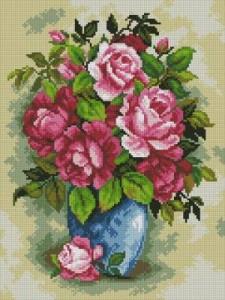 Схема Ваза с розами