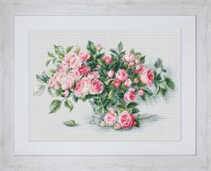 Схема Розовый букет