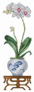 Схема Белая орхидея