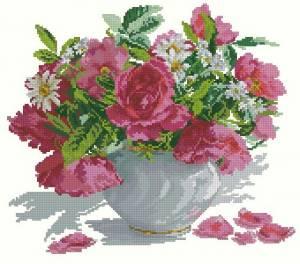 Розы и ромашки