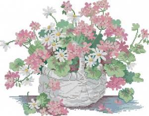 Схема Корзина с цветами (Barbara's basket)