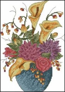 Схема Осенние цветы