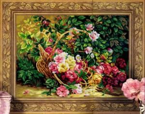 Схема Корзина с розами