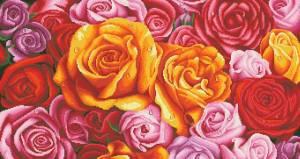 Схема Розовое изобилие