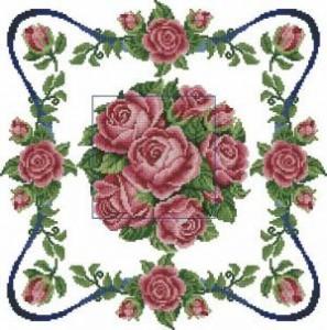 Схема Подушка с розами