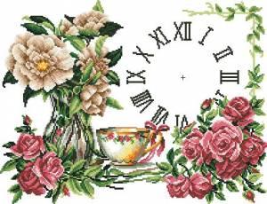Схема  Чайная роза