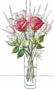 Схема Букет роз (эскиз)