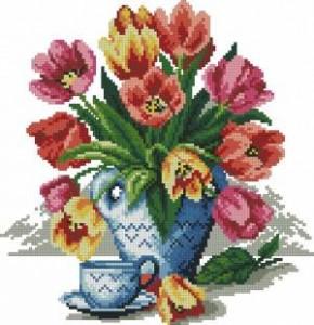 Схема Весенний букет (тюльпаны)