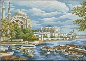 Вышивка крестом дворец схемы