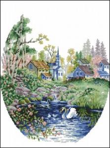 Схема Лебеди на озере