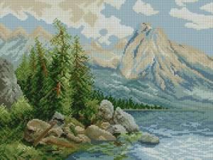 Схема Озеро в горах