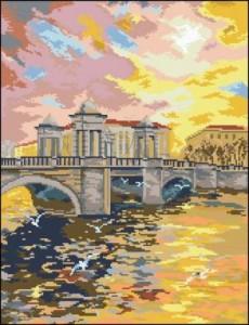 Схема Старо-Калинкин мост в Питере