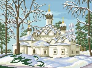 Схема Храм в зимнем лесу