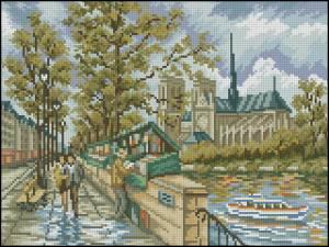 Схема На набережной Сены