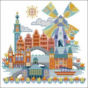 Схема Красочные города. Амсетрдам