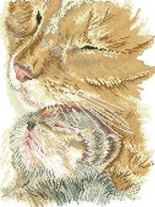 Схема Кошка с котенком