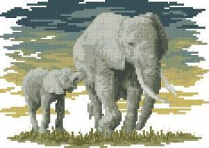 Схема Африканские слоны