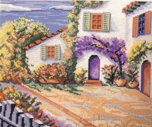 Схема Дворик с цветами