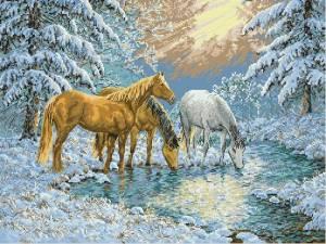 Схема Лошади у ручья