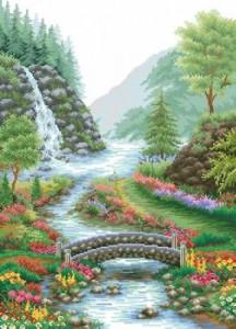 Схема Живописный водопад