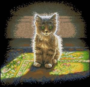 Схема Теплый и пушистый котенок